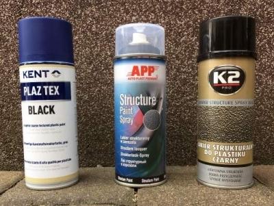Kunststoff Strukturspray Test